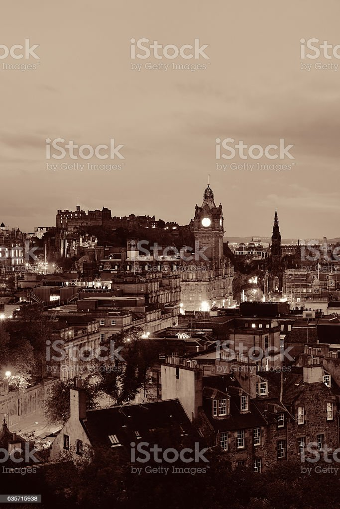 Edinburgh night royalty-free stock photo