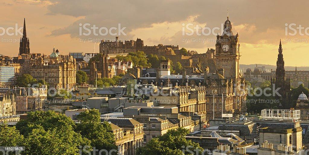 Edinburgh Panoramic Cityscape stock photo