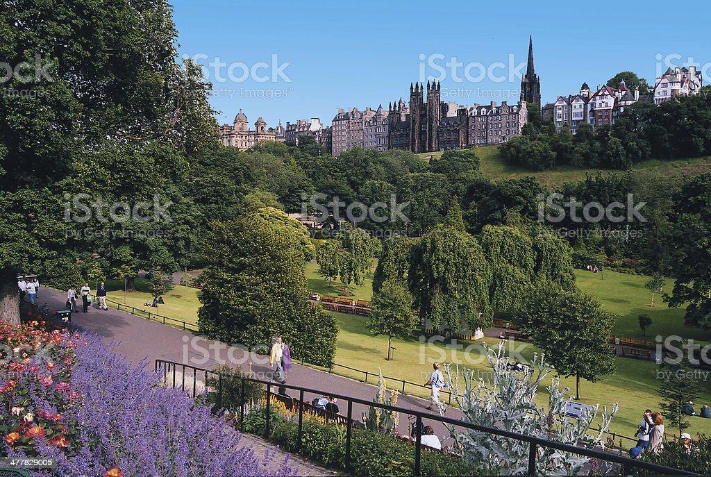 Edinburgh: Princes Street Gardens stock photo