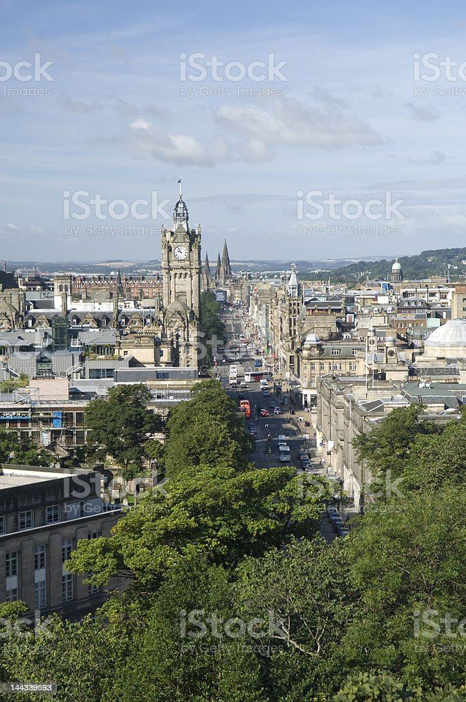 Edinburgh Princes Street stock photo