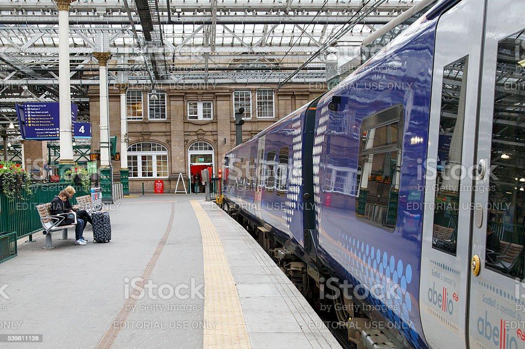 Edinburgh Railway Station stock photo