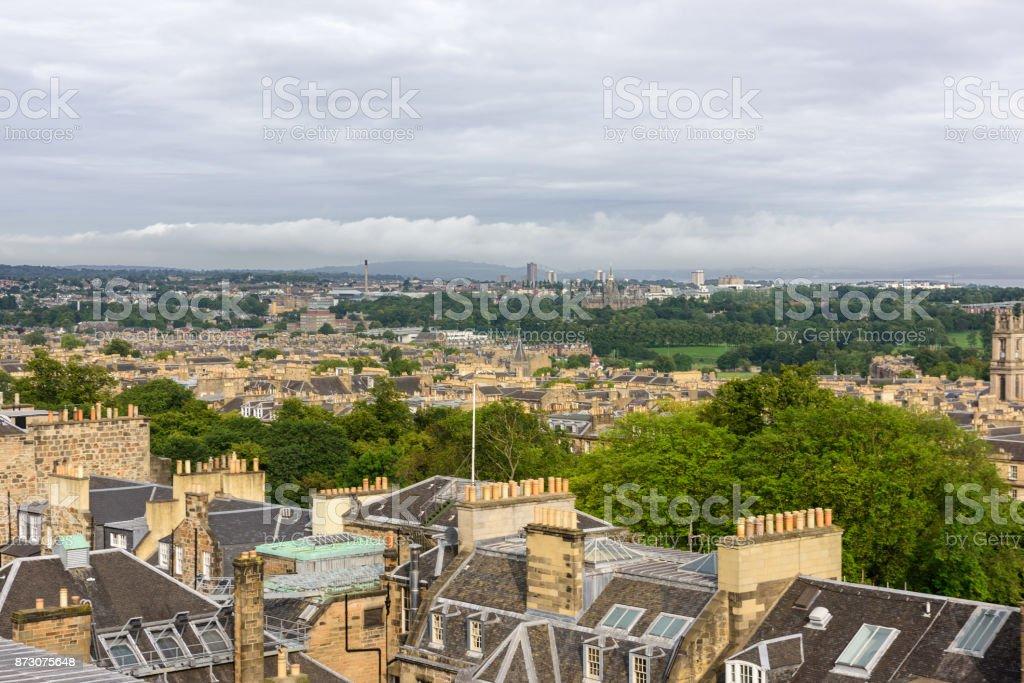 Edinburgh rooftops, Scotland stock photo
