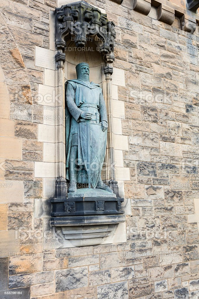 Edinburgh, Scotland. Statue of William Wallace stock photo