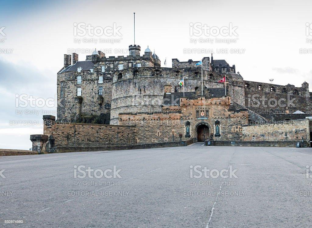 Edinburgh, Scotland. The Castle stock photo