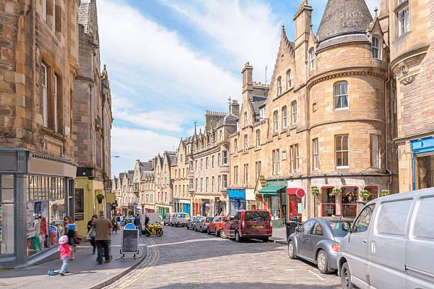 Edinburgh, Scotland, UK street view of Edinburgh, Scotland, UK edinburgh scotland stock pictures, royalty-free photos & images