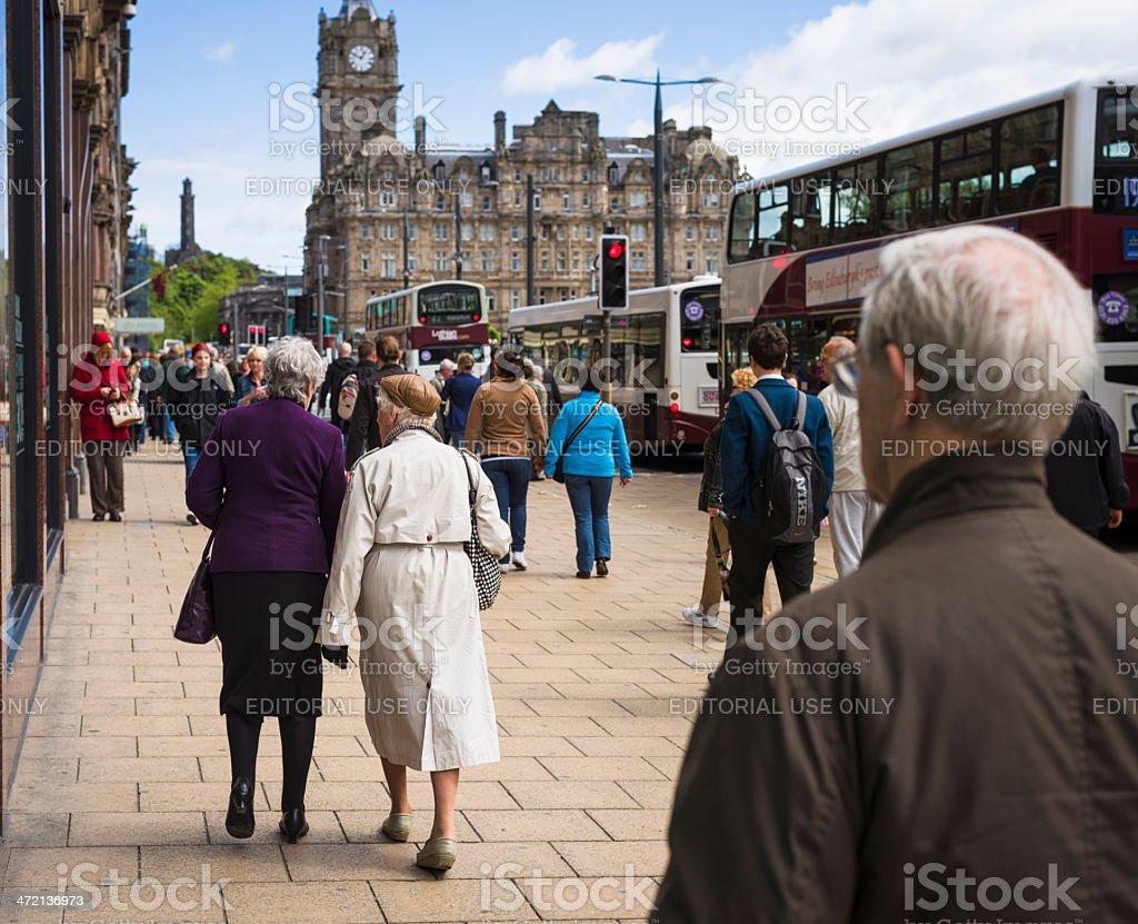 Edinburgh Shoppers stock photo
