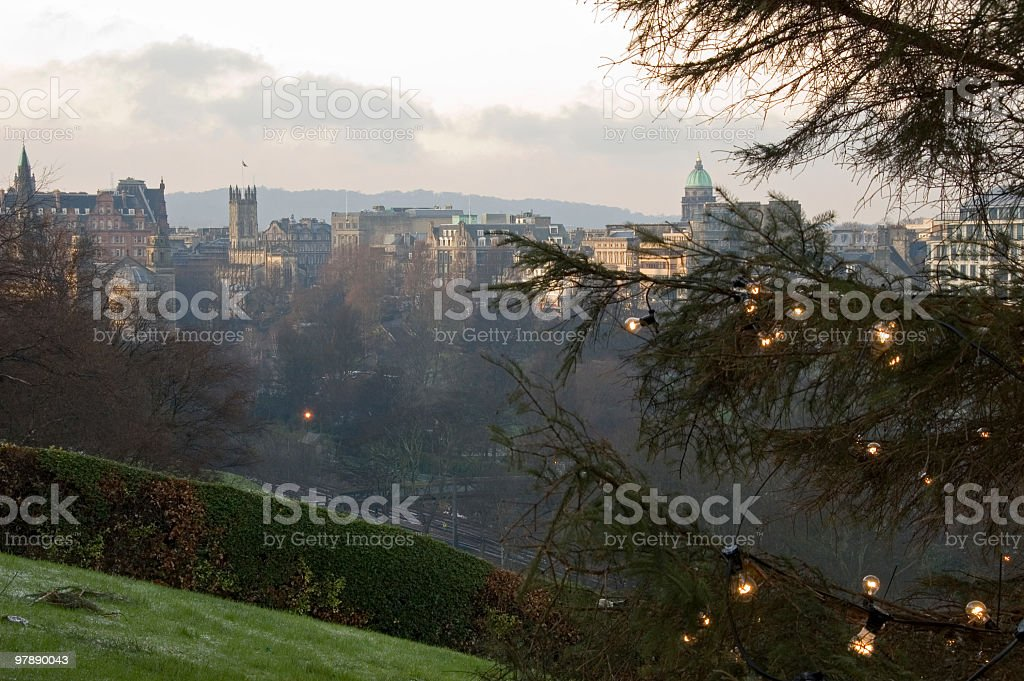 Edinburgh Skyline royalty-free stock photo