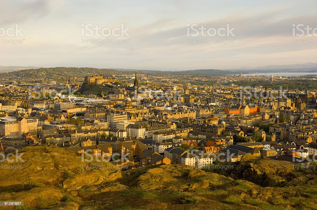 Edinburgh Sunrise stock photo