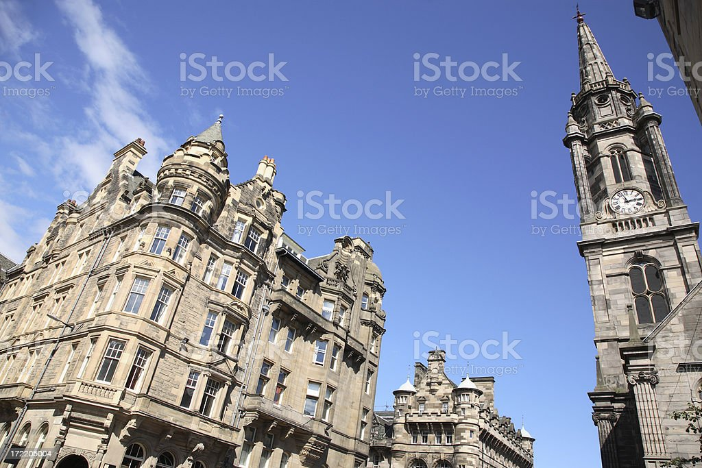 Edinburgh: The Royal Mile stock photo