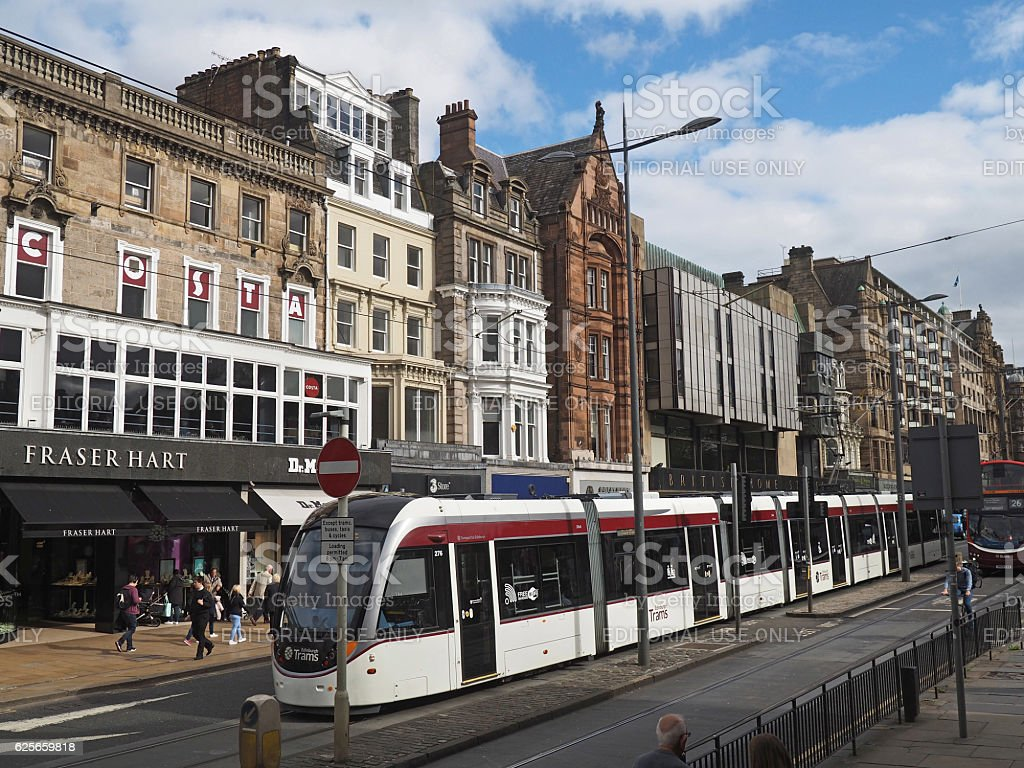 Edinburgh Tram stock photo