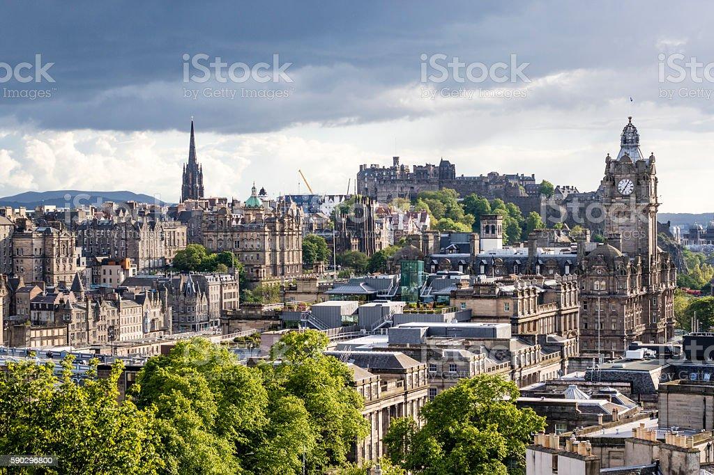 Edinburgh, view from Calton Hill, Scotland - United Kingdom royaltyfri bildbanksbilder