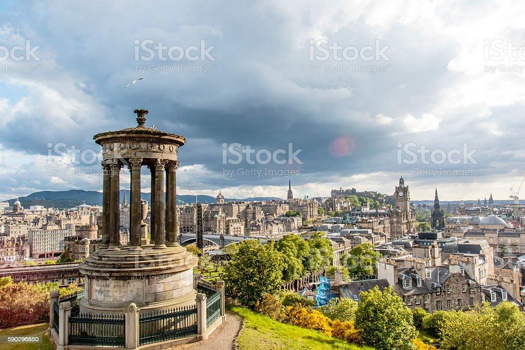 Edinburgh, view from Calton Hill, Scotland - United Kingdom Стоковые фото Стоковая фотография