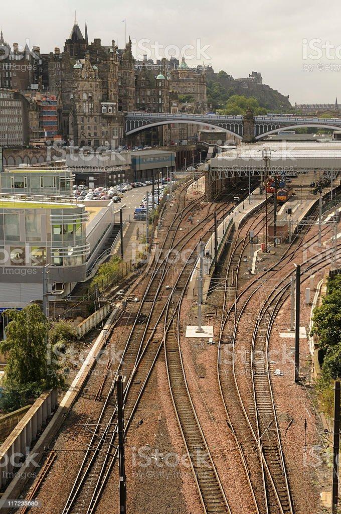 Edinburgh Waverley Cityscape royalty-free stock photo