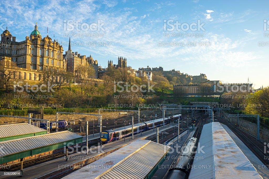 Edinburgh Waverley railway station stock photo