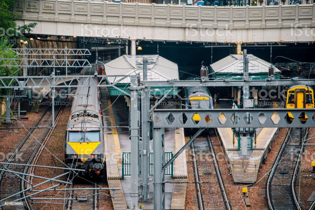 Edinburgh Waverley Station stock photo