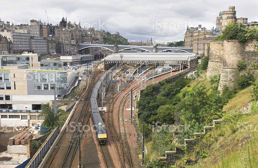 Edinburgh Waverley Station royalty free stockfoto