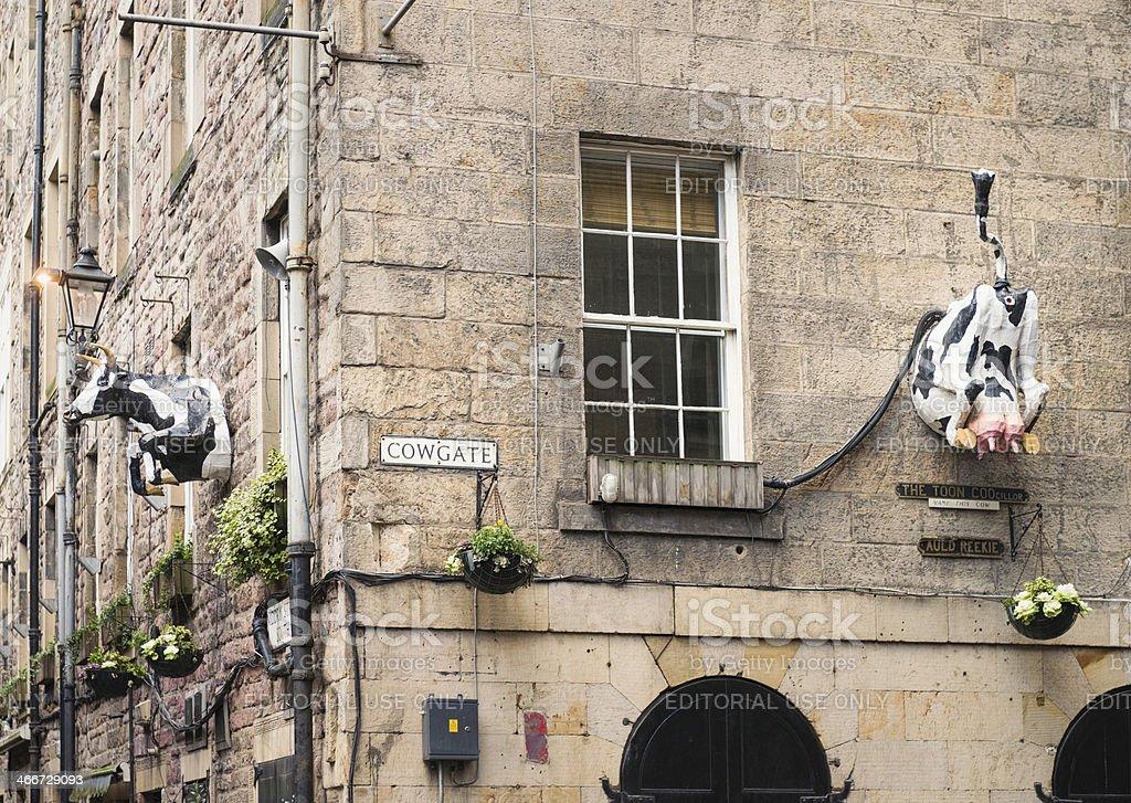 Edinburgh's Cowgate royalty-free stock photo