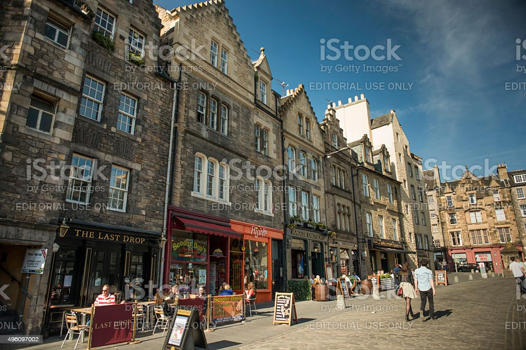 Edinburgh's Grassmarket, Scotland, UK stock photo