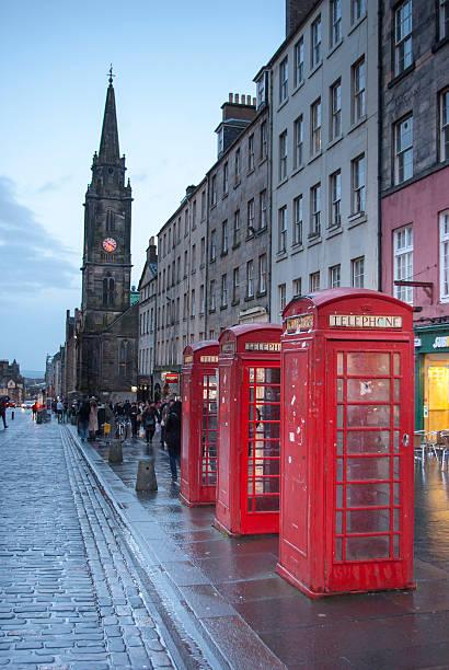 Edinburgh's old town stock photo