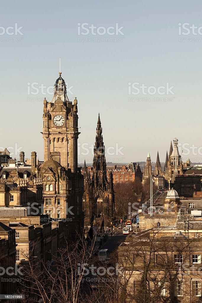 Edinburgh's Princes Street stock photo