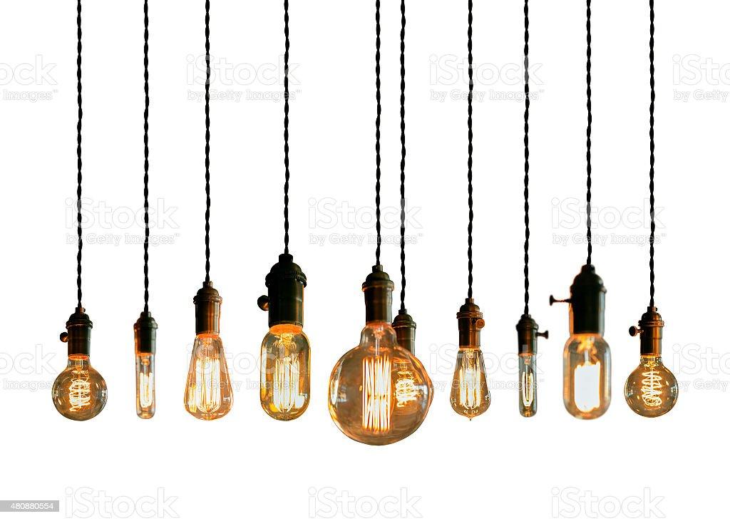 Edison Lightbulbs stock photo
