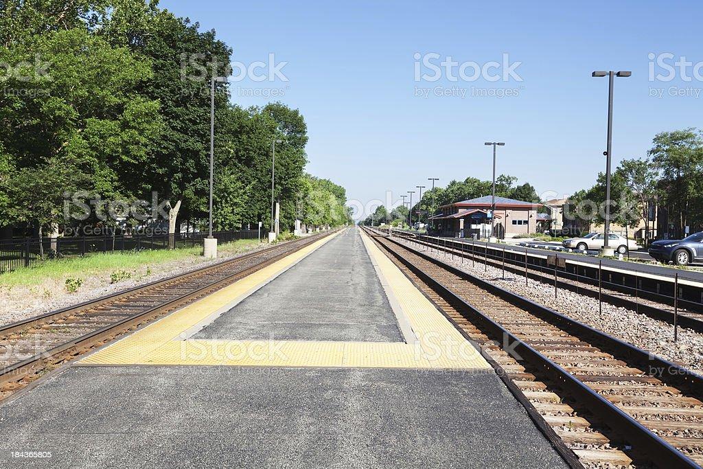 Edison Park Railway Station, Chicago royalty-free stock photo