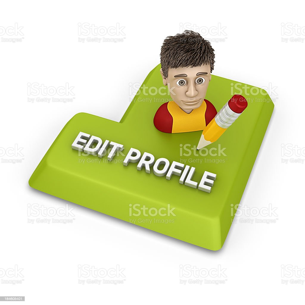 edit profile royalty-free stock photo