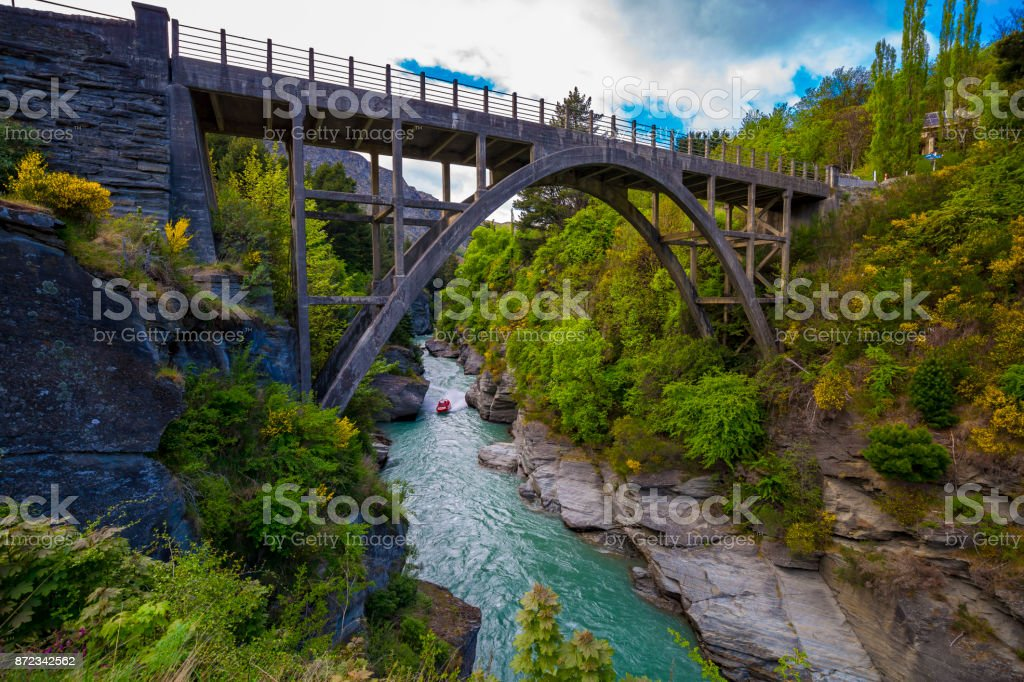Edith Cavell Bridge stock photo