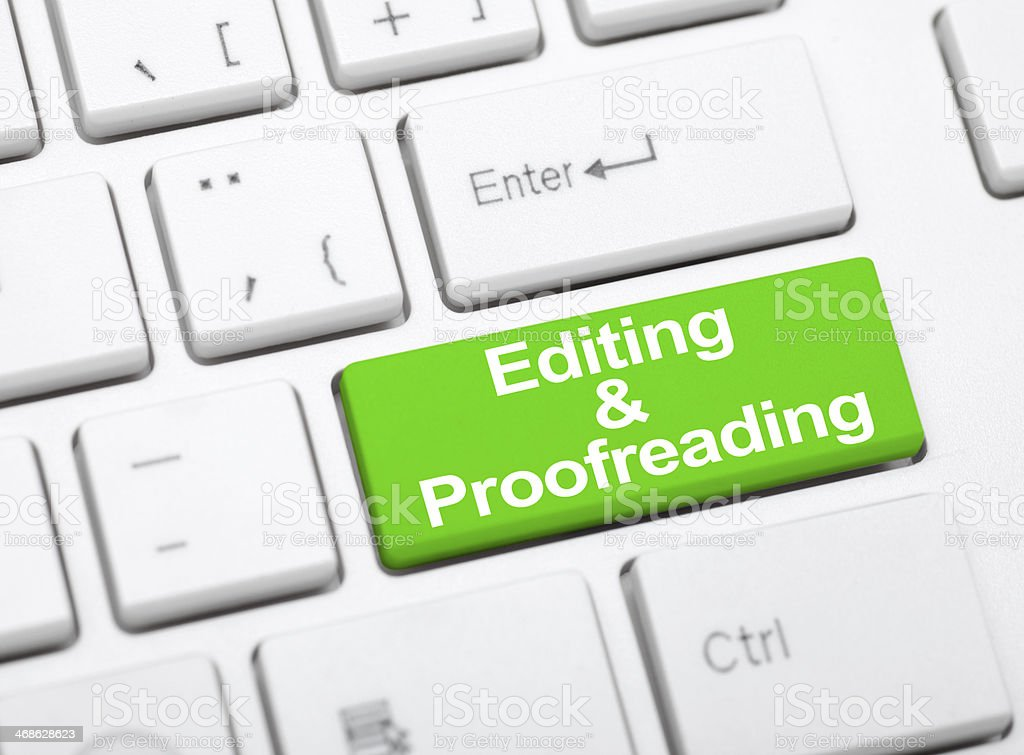 Editing and profreeadin. stock photo