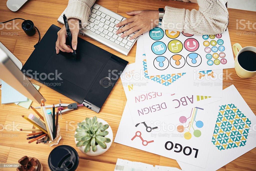 Editor at work Lizenzfreies stock-foto