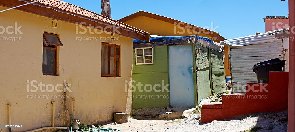 Editorial: A poor township close to Cape Town, South Africa. royalty-free stock photo