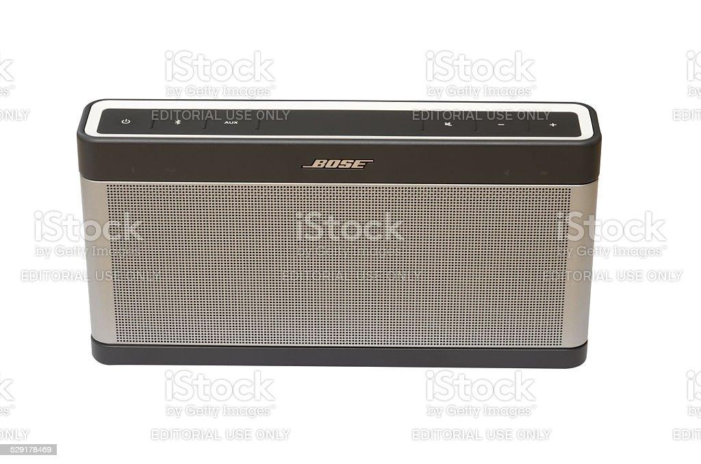 Editorial: Bose SoundLink III isolated stock photo