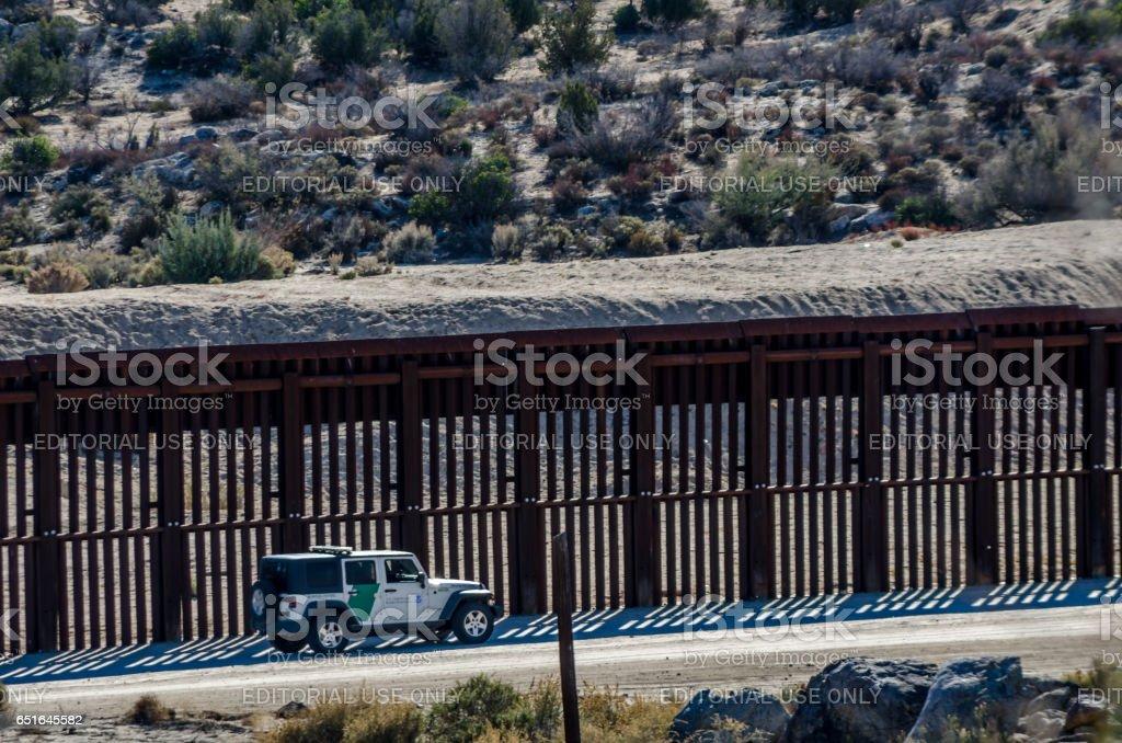 Editorial December 3, 2015: US - Mexico Border stock photo