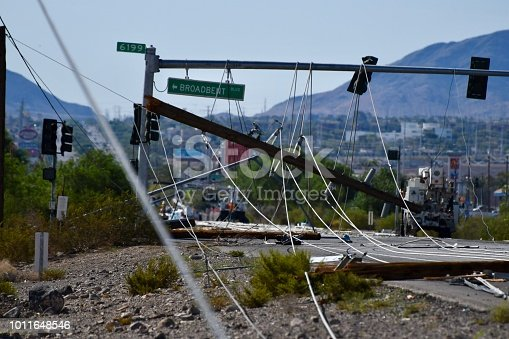 Downed powelines caused by lightning on July 20th in Henderson, NV; 10 miles from the Las Vegas strip.