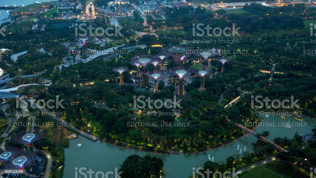 Editorial of Gardens by the Bay 1 stock photo