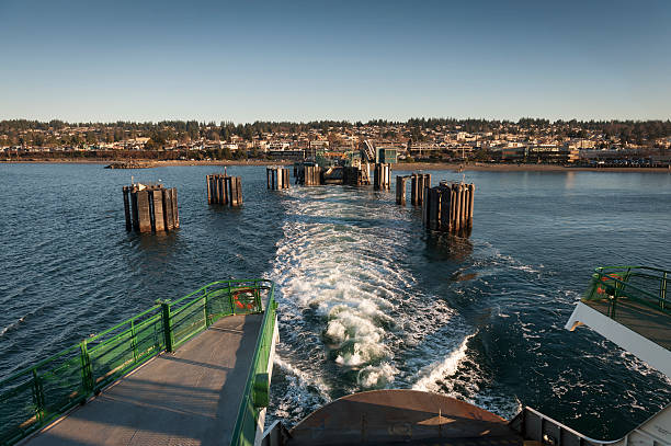 Edmonds, Washington Ferry Dock stock photo