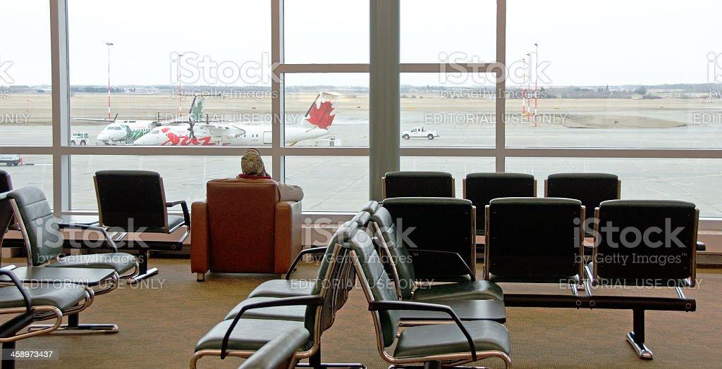 Edmonton Airport Gates royalty-free stock photo