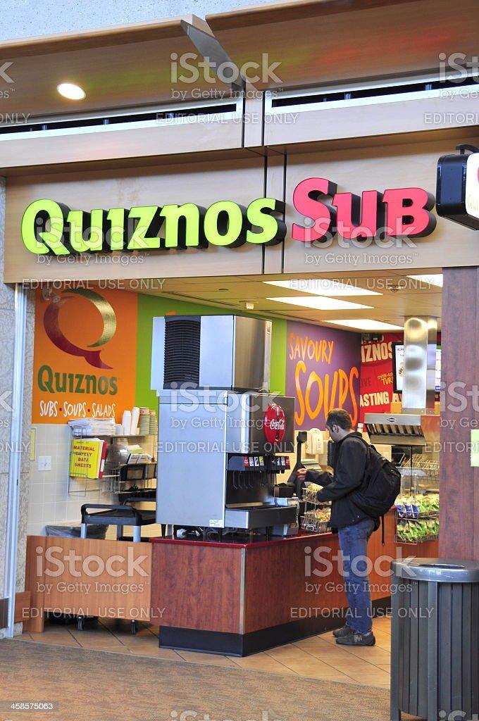 Edmonton Airport Quiznos Fast Food royalty-free stock photo