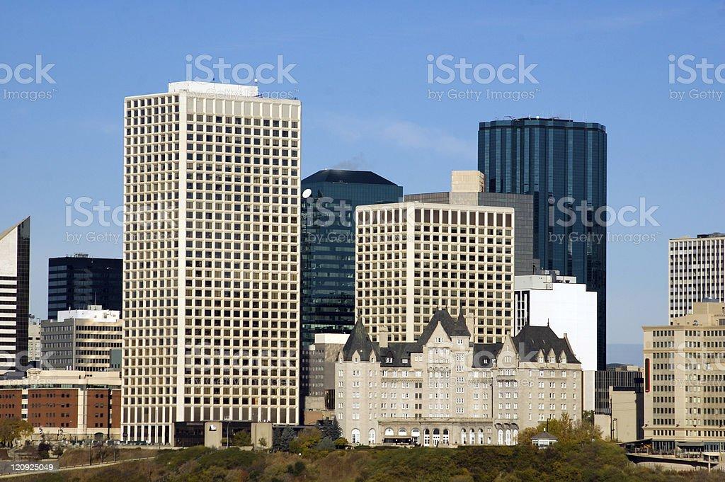 Edmonton ... Downtown royalty-free stock photo