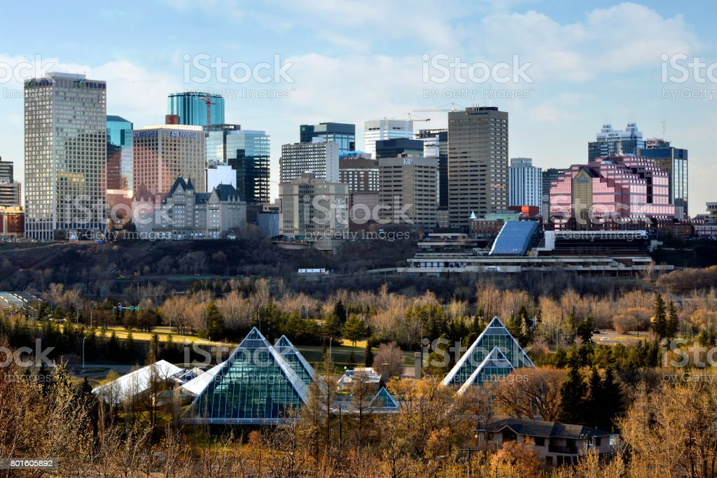 Edmonton Skyline - Fall stock photo