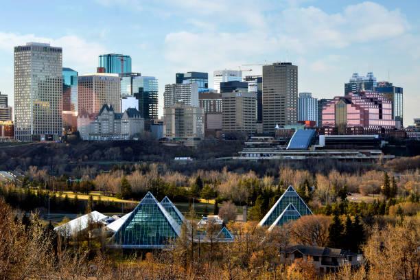 Edmonton Skyline - Fall stock photo