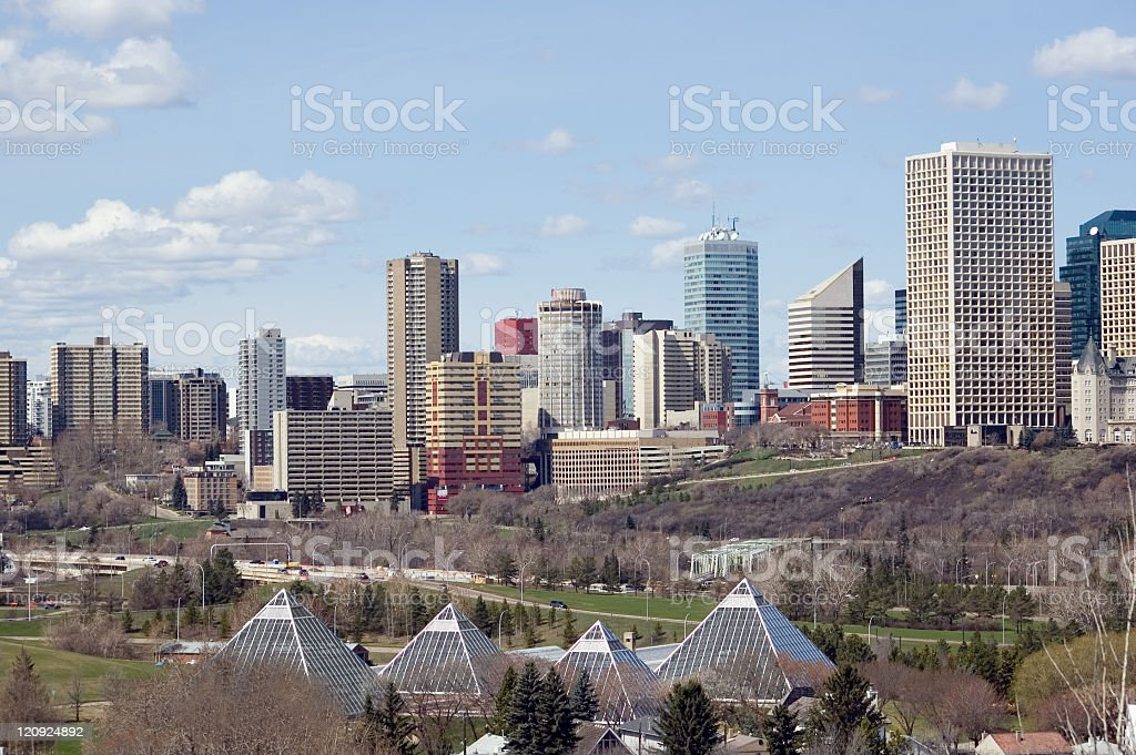 Edmonton Skyline in the Early Spring royalty-free stock photo