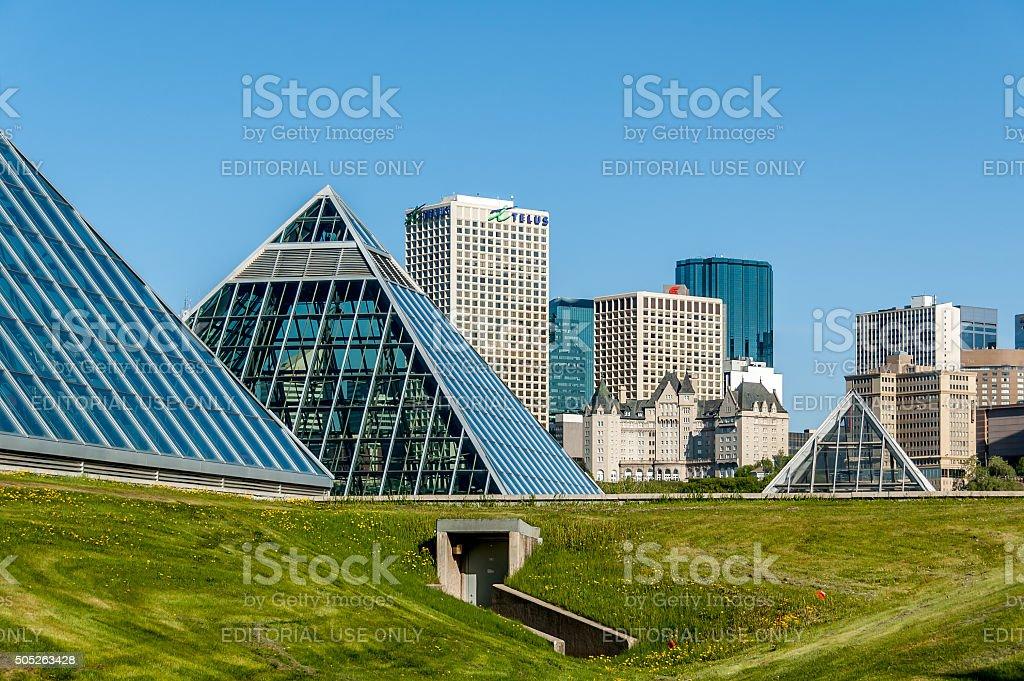Edmonton skyline stock photo