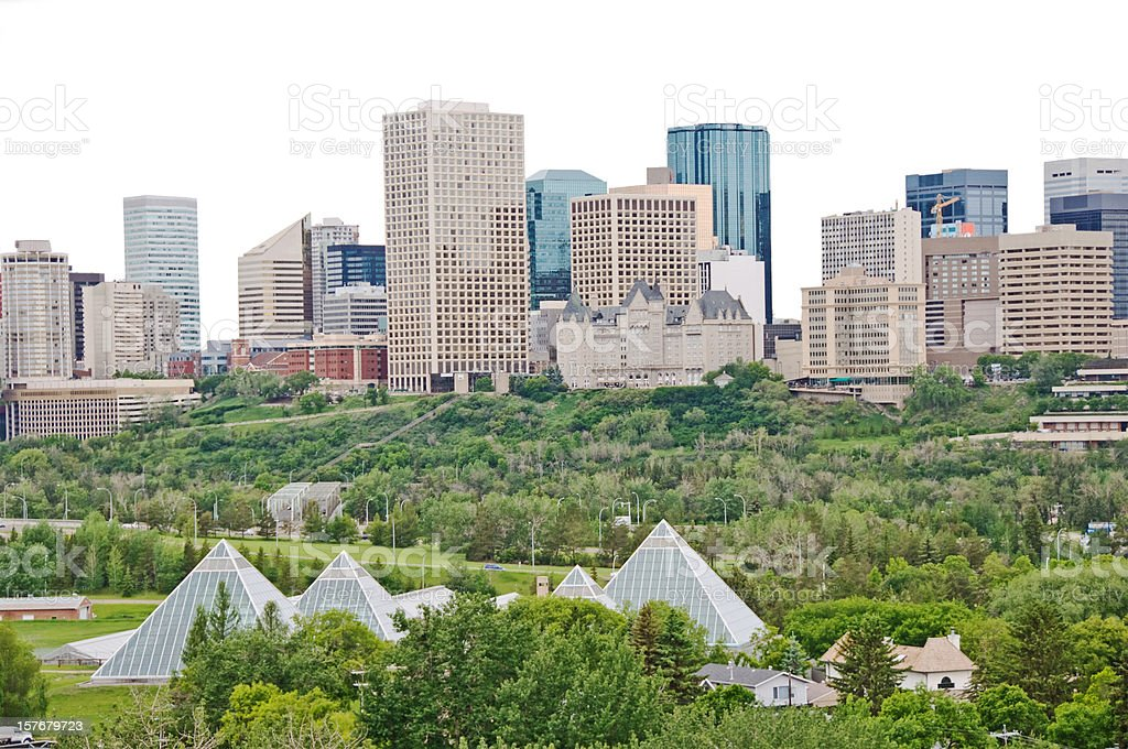 Edmonton Skyline with Clipping Path royalty-free stock photo
