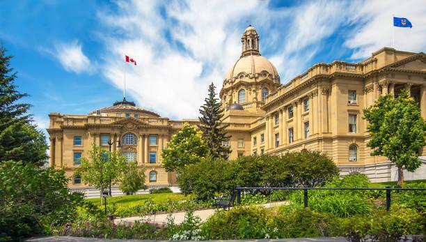 Edmonton,Alberta,Canada June 25, 2018 Legislature Building in Edmonton Alberta Canada stock photo