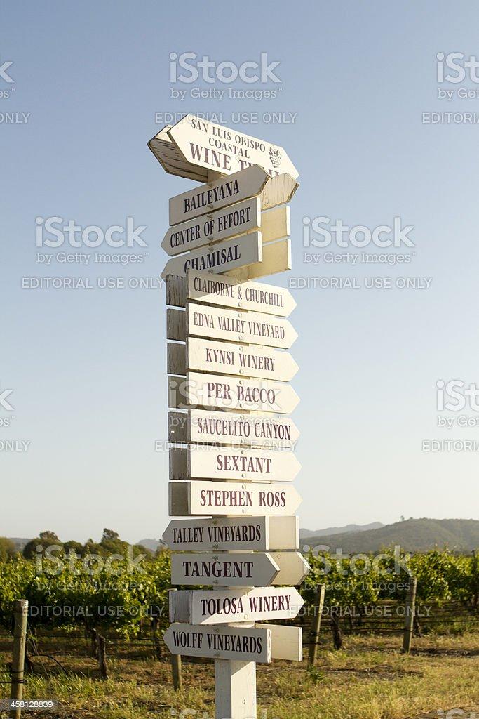 Edna Valley Vineyard Signs stock photo