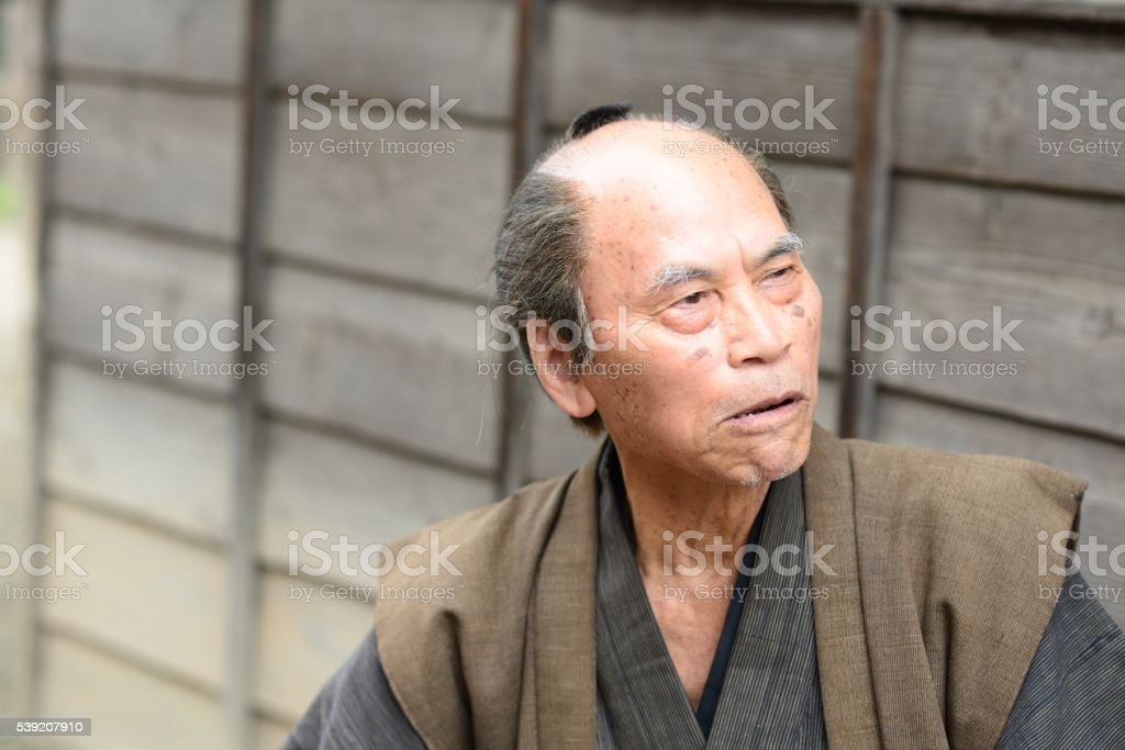Edo peasant stock photo