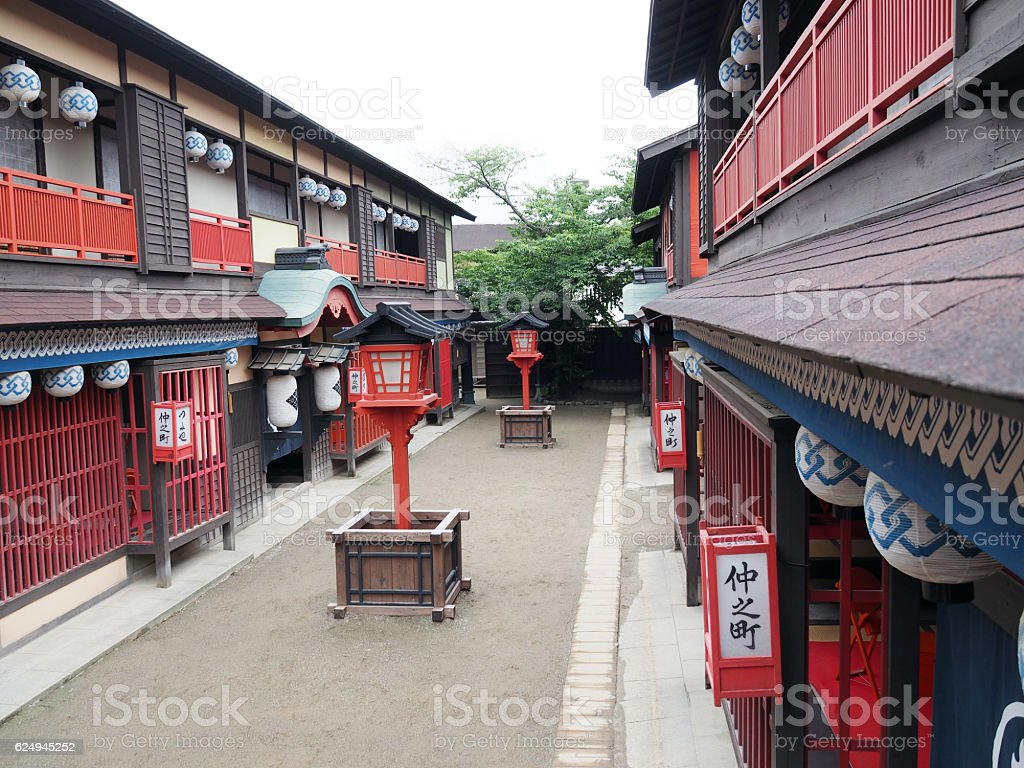Edo Town, Daytime stock photo