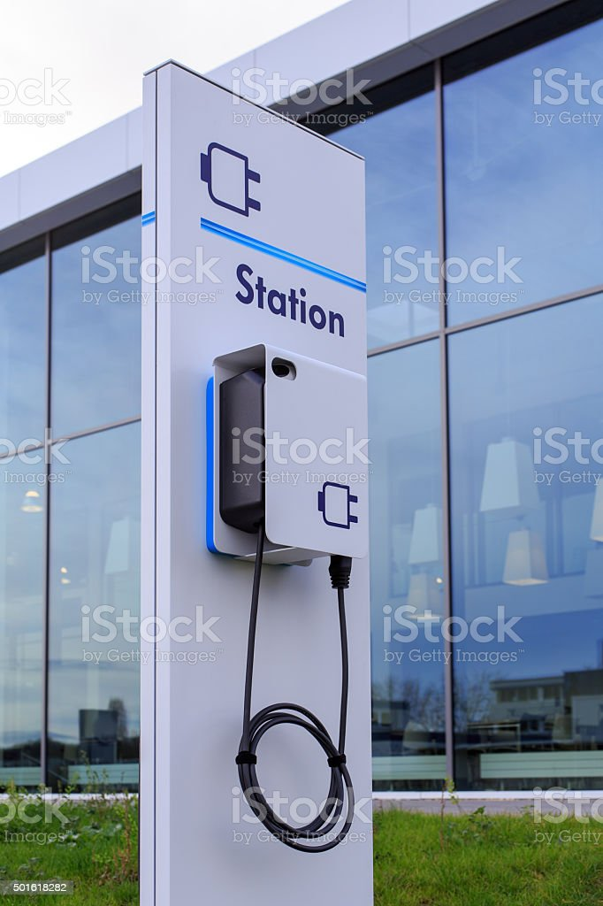 e-drive charging station stock photo