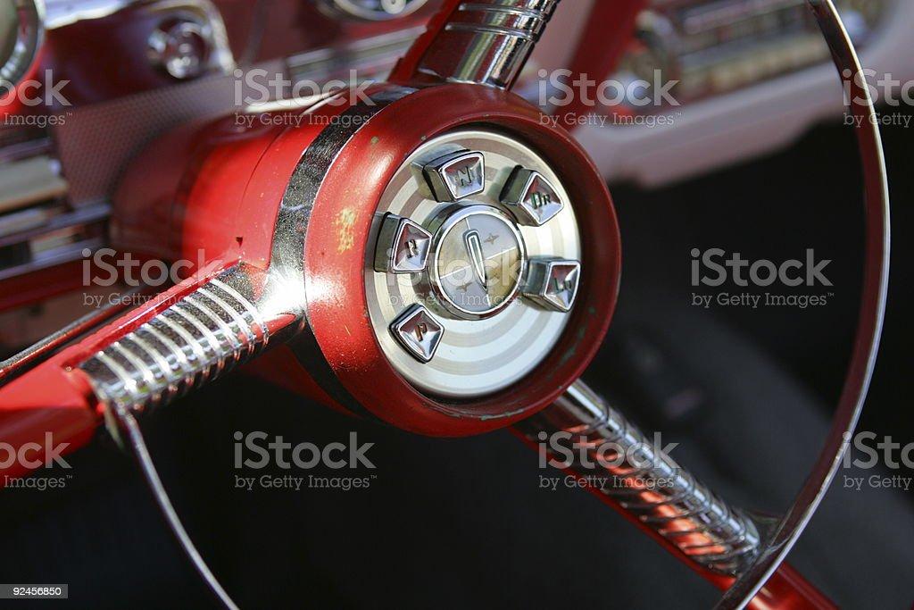 Edsel Steering Wheel stock photo